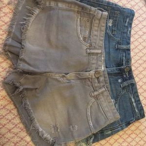 Free People distressed Shorts in Grey/Jeans Sz 25